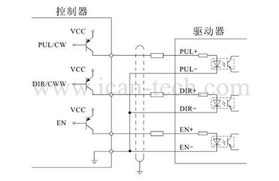 mc8h电流设定                 驱动器的峰值输出电流由amper电位器